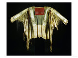A Sioux Quilled and Fringed Hide Warrior's Shirt, Mid 19th Century Prints