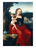 The Madonna and Child with a Wooded Landscape Beyond Giclee Print by Jan Brueghel the Elder
