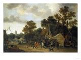 A Fair in a Village Street Giclee Print by Herri Met De Bles