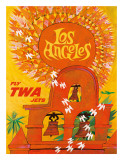 Fly TWA Los Angeles c.1959 Giclee Print by David Klein