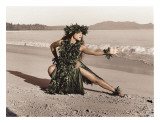 Dance of the Turtle, Hawaiian Hula Dancer Print by Alan Houghton
