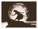 Full Moon Hula Dancer Print by Alan Houghton