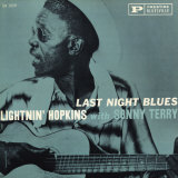 Lightnin' Hopkins - Last Night Blues Poster