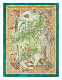 Oahu, The Gathering Place, Vintage Map of Oahu, Hawaii Posters by Dave Stevenson