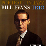 Bill Evans Trio - Portrait in Jazz Poster by Paul Bacon