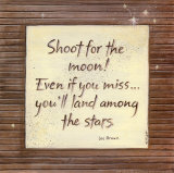 Shoot For The Moon Poster by Karen Tribett