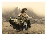 Swaying Skirt, Hawaiian Hula Dancer Prints by Alan Houghton