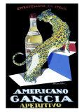 Americano Gancia Apertivo Giclee Print by Achille Luciano Mauzan
