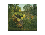The Fight Between a Tiger and Buffalo, c.1908 Prints by Henri Rousseau