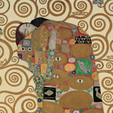 Fulfillment, Stoclet Frieze, c.1909 (detail) Posters van Gustav Klimt