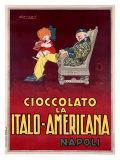 Cioccolato la Italo-Americana, Napoli Giclee Print by Achille Luciano Mauzan