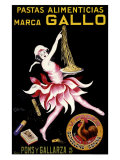 Gallo, Pastas Alimenticias Gicle-tryk af Leonetto Cappiello