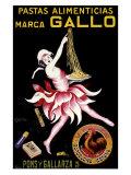 Gallo, Pastas Alimenticias Giclée-tryk af Leonetto Cappiello
