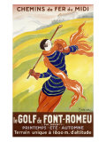Le Golf de Font-Romeu Reproduction procédé giclée par Leonetto Cappiello