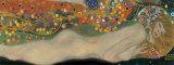 Vattenormar II, ca 1907 Affischer av Gustav Klimt