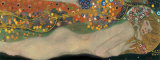 Vesikrmeet II (Water Serpents II), noin 1907 Posters tekijn Gustav Klimt