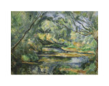 The Brook Posters by Paul Cézanne