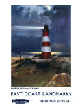 East Coast Landmarks, Happisburgh near Stalham, British Rail Giclee Print by Frank Mason