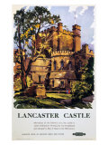 Lancaster Castle, British Rail, c.1950 Giclee Print by Kenneth Steel