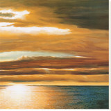 Reflections on the Sea II Stretched Canvas Print by Dan Werner