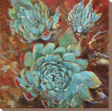 Blue Agave I Stretched Canvas Print by Jillian David
