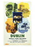 Dublin, Nightly from Holyhead Giclee Print
