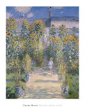 The Artist&#39;s Garden at Vetheuil, 1880 Art by Claude Monet
