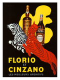Florio et Cinzano Apertifs Giclee Print by Leonetto Cappiello