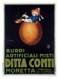 Moretta Butternut Cream Giclee Print by Achille Luciano Mauzan