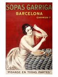 Sopas Garriga, Barcelona Reproduction proc&#233;d&#233; gicl&#233;e par Leonetto Cappiello