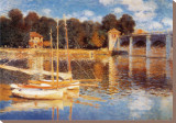 The Bridge at Argenteuil Stretched Canvas Print by Claude Monet