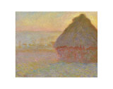Grainstack (Sunset), 1891 Posters by Claude Monet