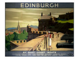 Edinburgh by the East Coast Route Reproduction proc&#233;d&#233; gicl&#233;e