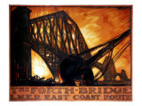 The Forth Bridge, LNER East Coast Route Giclee Print