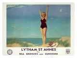 Lytham St. Annes for Sea Breezes and Sunshine Giclee Print by W. Smithson Broadhead