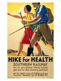 Hike for Health, Southern Railways Giclee Print