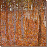 Beechwood Forest, 1903 Stretched Canvas Print by Gustav Klimt