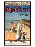 Sunny Ramsgate Railway, c.1908 Giclee Print
