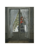 The Red Kerchief: Portrait of Mrs. Monet, c.1868-1878 Pôsters por Claude Monet