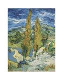 The Poplars at Saint-Remy, c.1889 Kunstdrucke von Vincent van Gogh