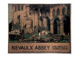 Rievaulx Abbey, Helmsley, Yorks LNER, 1933 Giclee Print