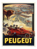 Peugeot Reproduction procédé giclée par Francisco Tamagno
