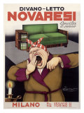 Novaresi, Italian Sofa Furniture Giclee Print by Achille Luciano Mauzan