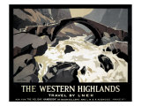 The Western Highlands, Travel by LNER Giclee Print
