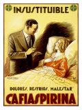 Achille Luciano Mauzan - Cafiaspirina Pain Reliever - Giclee Baskı