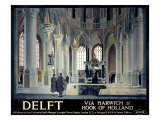 Delft, Via Harwich & Hook of Holland Giclee Print