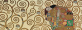 Fulfillment, Stoclet Frieze, c.1909 (detail) Print by Gustav Klimt