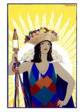 Spanish Senorita Beer Giclee Print by Achille Luciano Mauzan