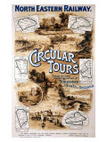 Circular Tours, North Eastern Railway, c.1920 Giclee Print