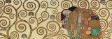L'Accomplissement, frise dans l'hôtel Stoclet|Fulfillment, Stoclet Frieze, vers 1909 (détail) Poster par Gustav Klimt